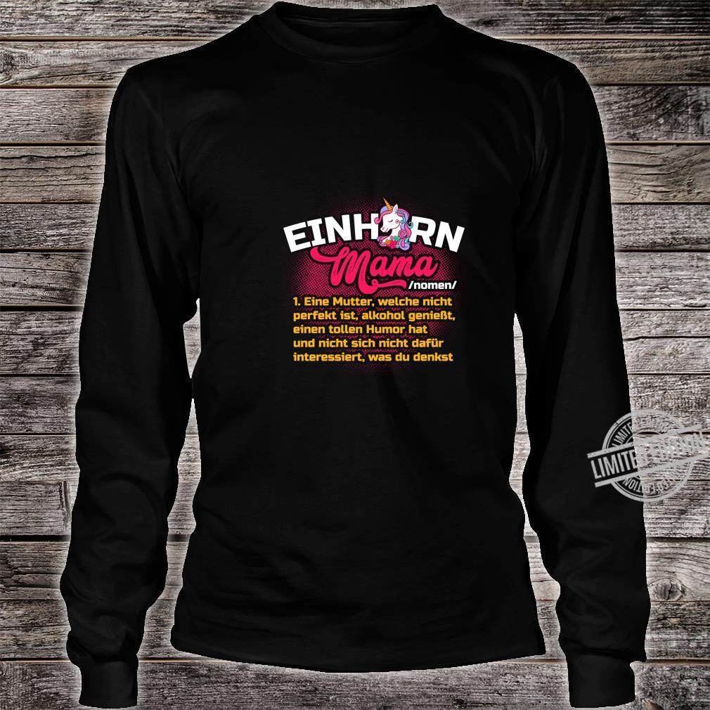 Lustiges Mutter Geschenk Muttertag Definition Einhorn Mama Langarmshirt Shirt long sleeved