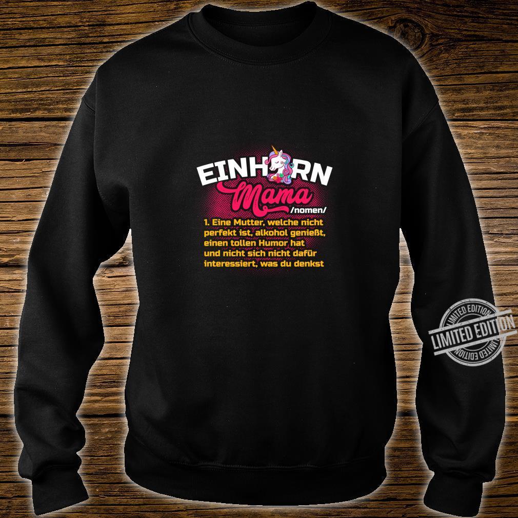 Lustiges Mutter Geschenk Muttertag Definition Einhorn Mama Langarmshirt Shirt sweater