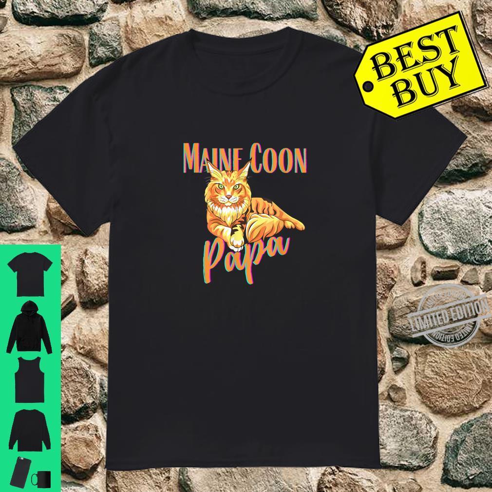 Maine Coon Papa Katzenfreunde Geschenk Shirt