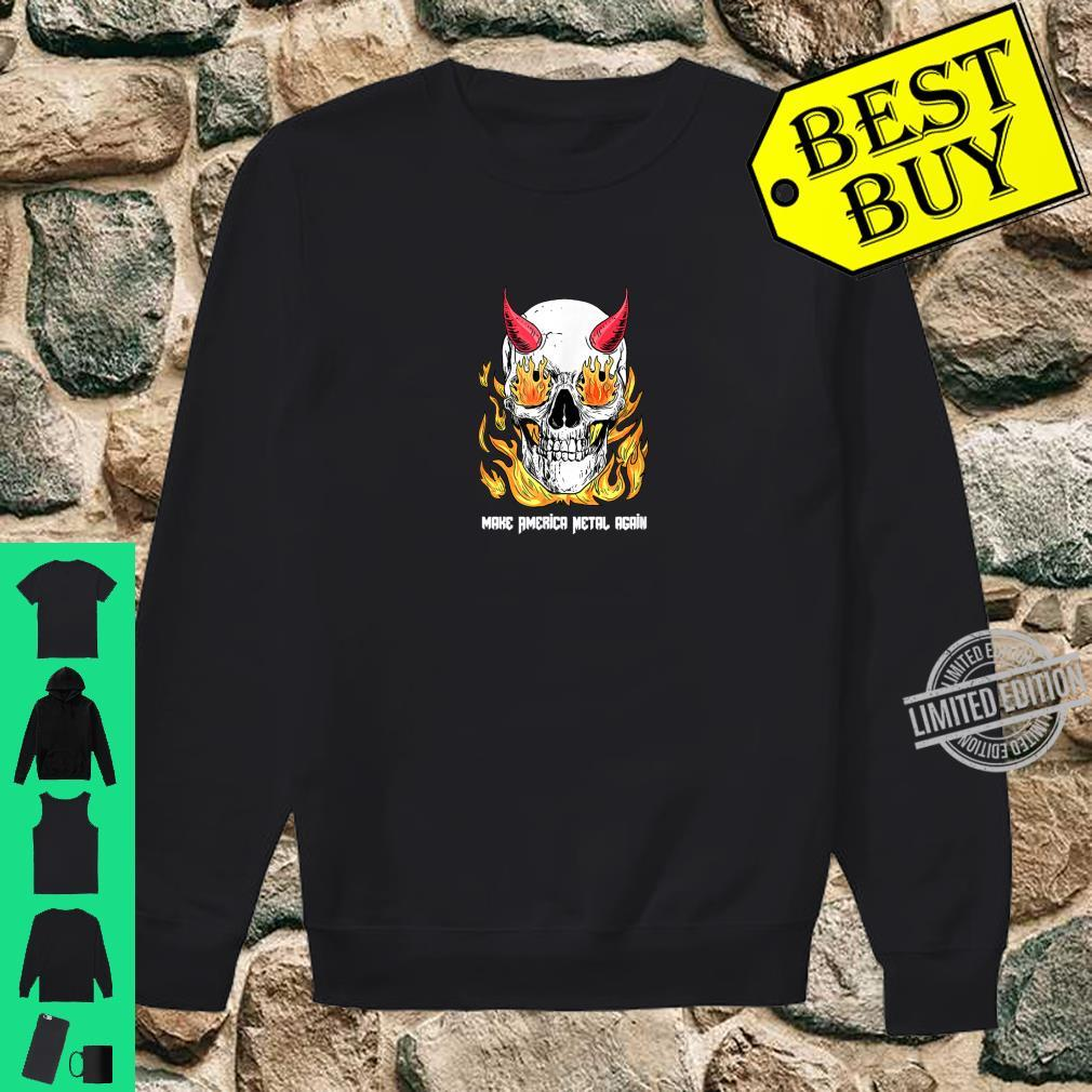 Make America Metal Again Skull devil Shirt sweater