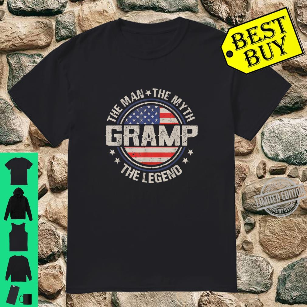 Mens Retro Fathers Day Gramp The Man The Myth The Legend Shirt