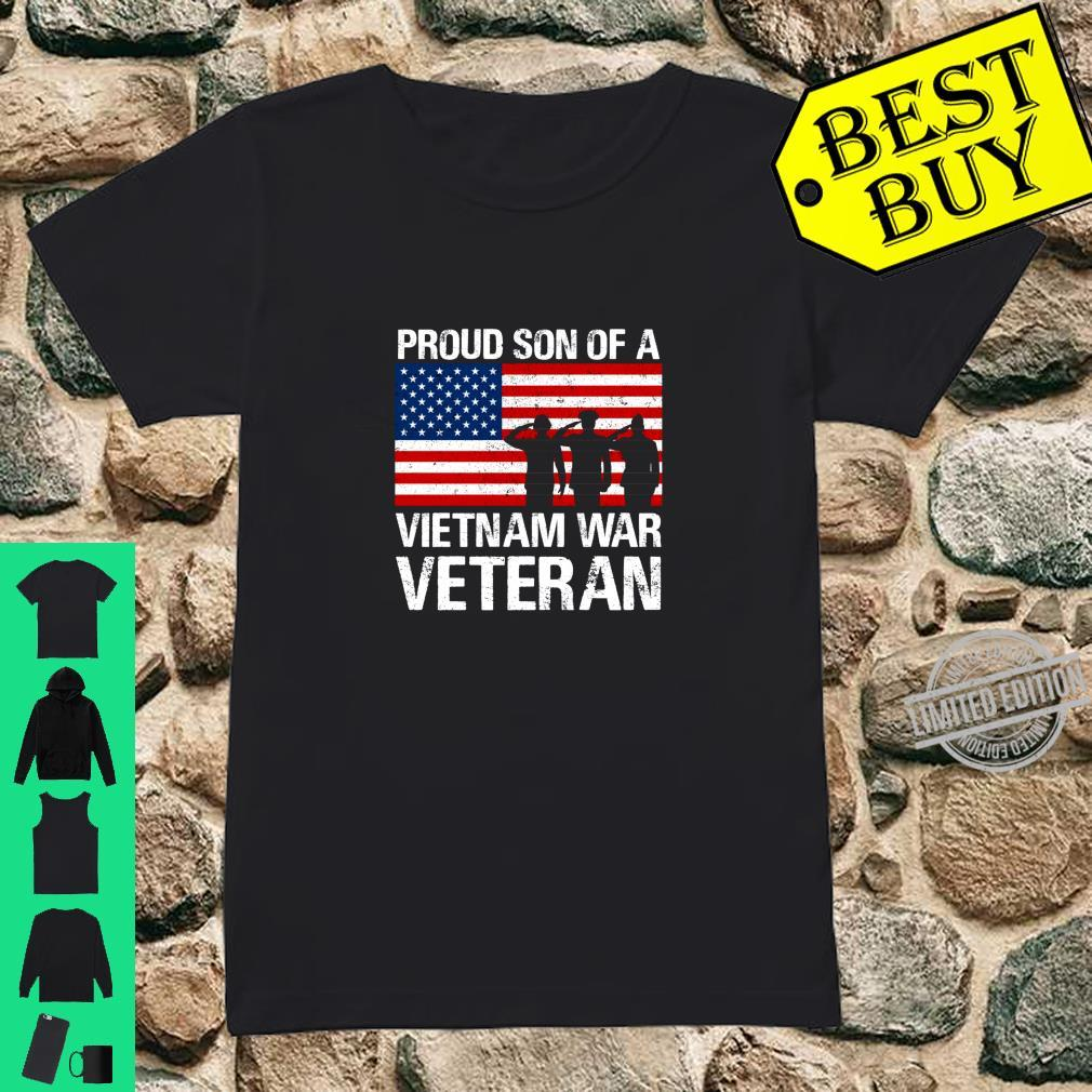 Military Family Proud Son of a Vietnam Veteran Shirt ladies tee