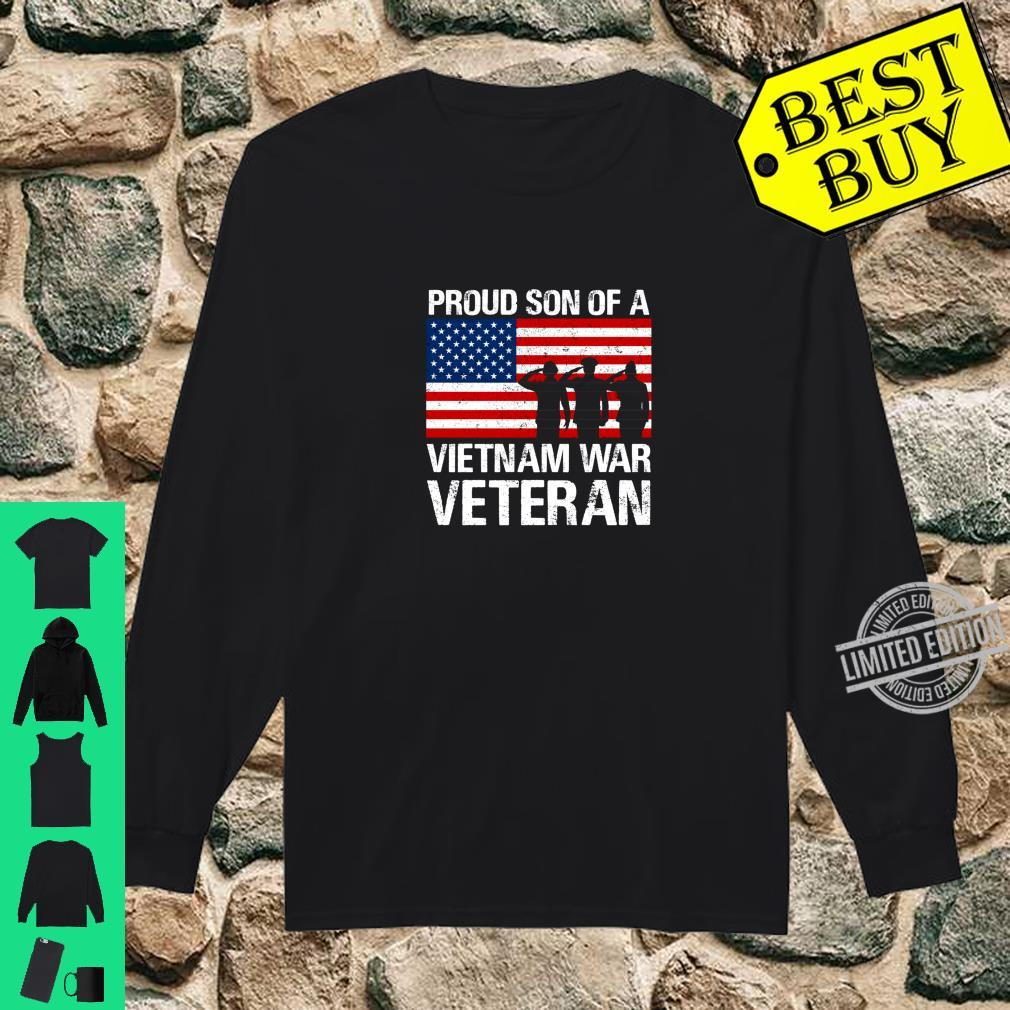 Military Family Proud Son of a Vietnam Veteran Shirt long sleeved