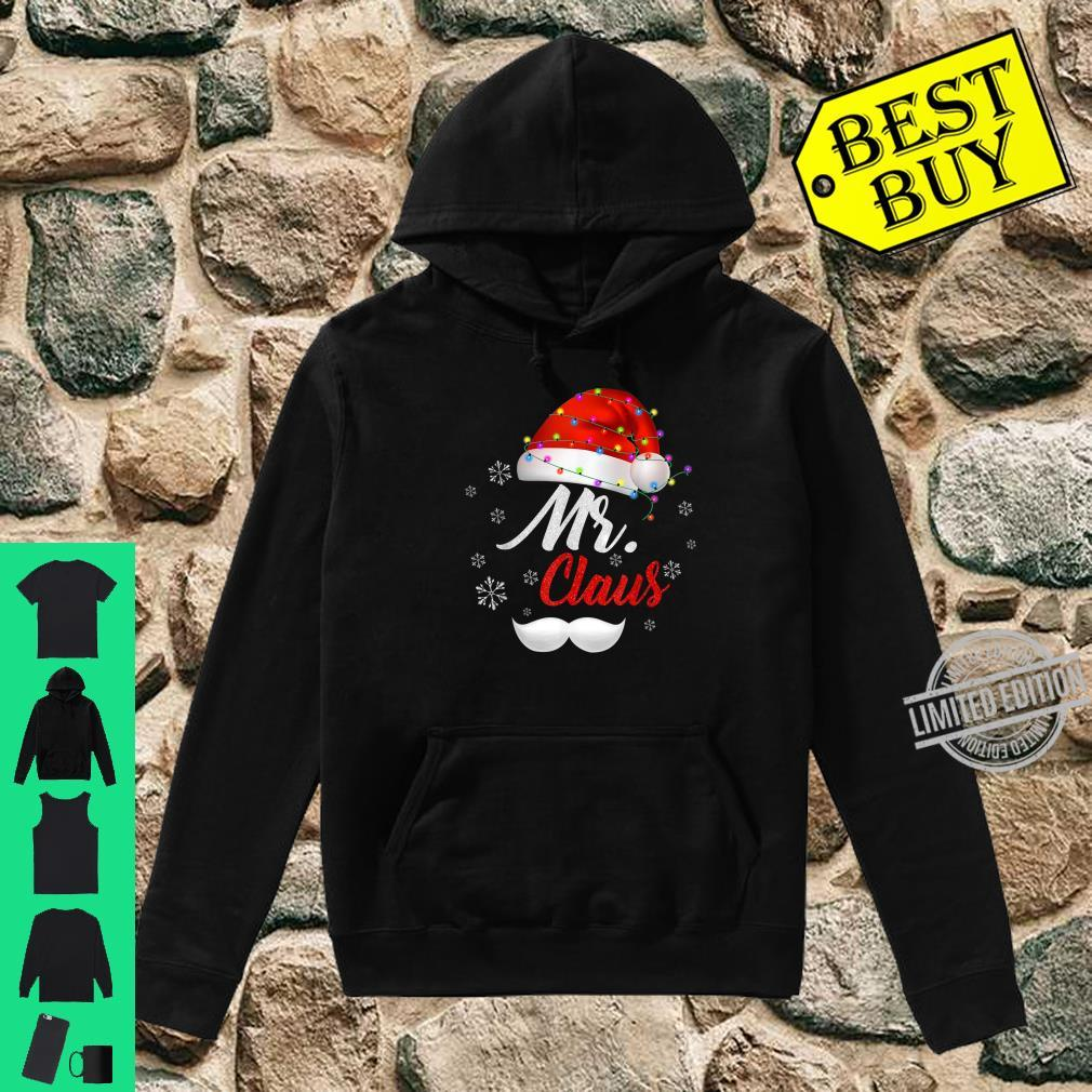 Mr Clause Hat Light In Snow Santa Christmas Couples Shirt hoodie