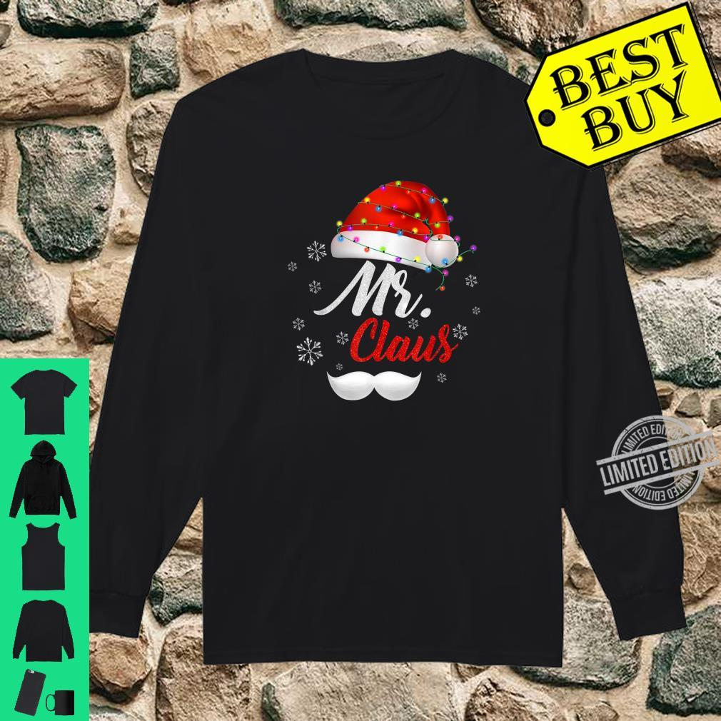 Mr Clause Hat Light In Snow Santa Christmas Couples Shirt long sleeved