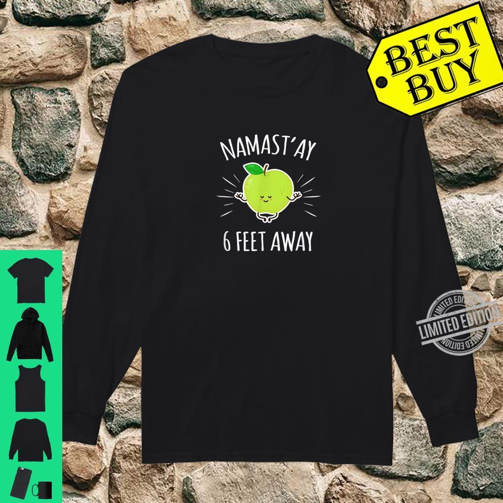 Namastay 6 Feet Away Kawaii Cute Apple Yoga Shirt long sleeved