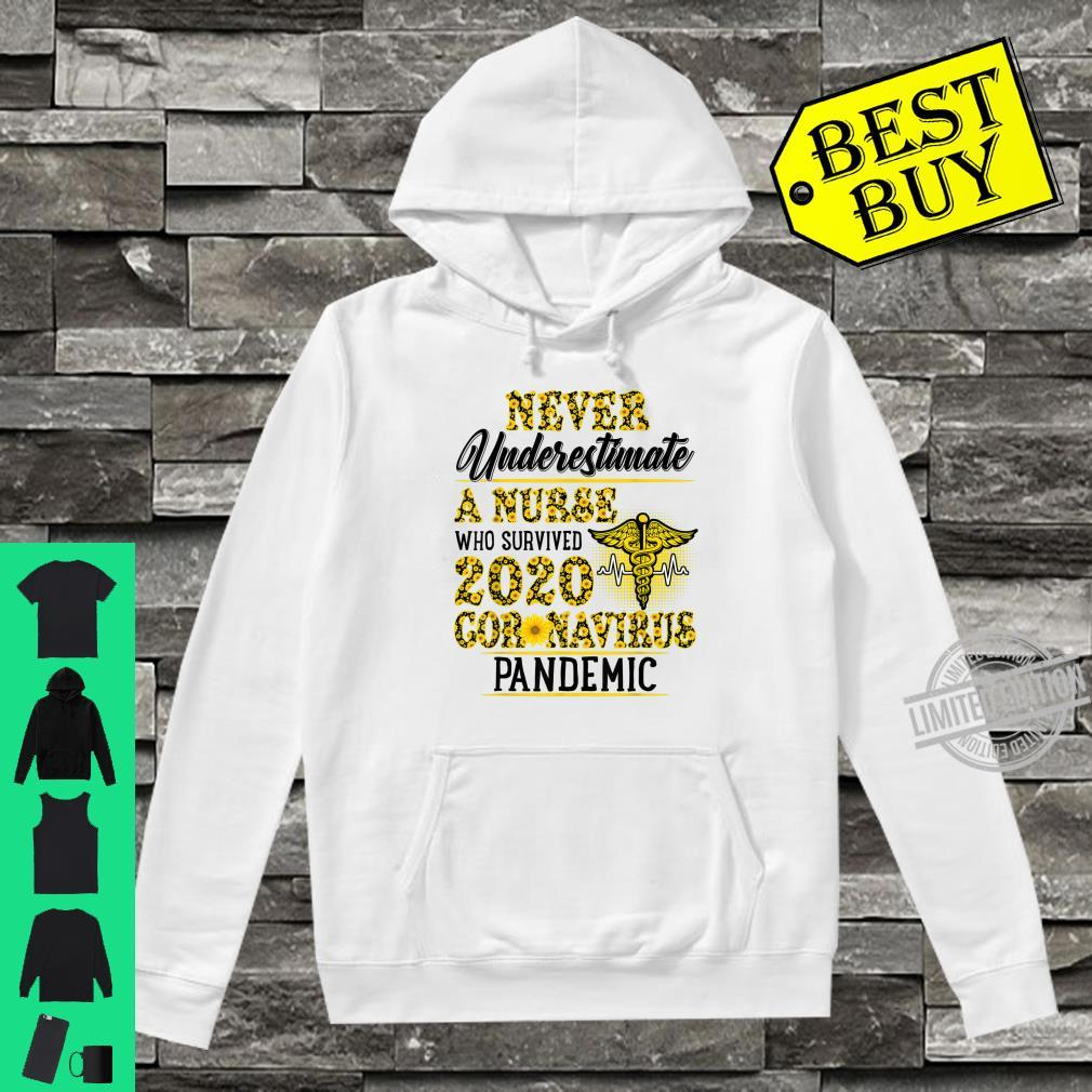 Never Underestimate A Nurse Who Survived 2020 Sunflower Shirt hoodie