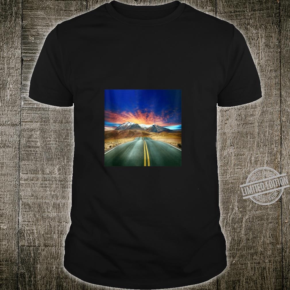 Nostalgic Vintage Old Retro Mountain Road At Dawn Shirt