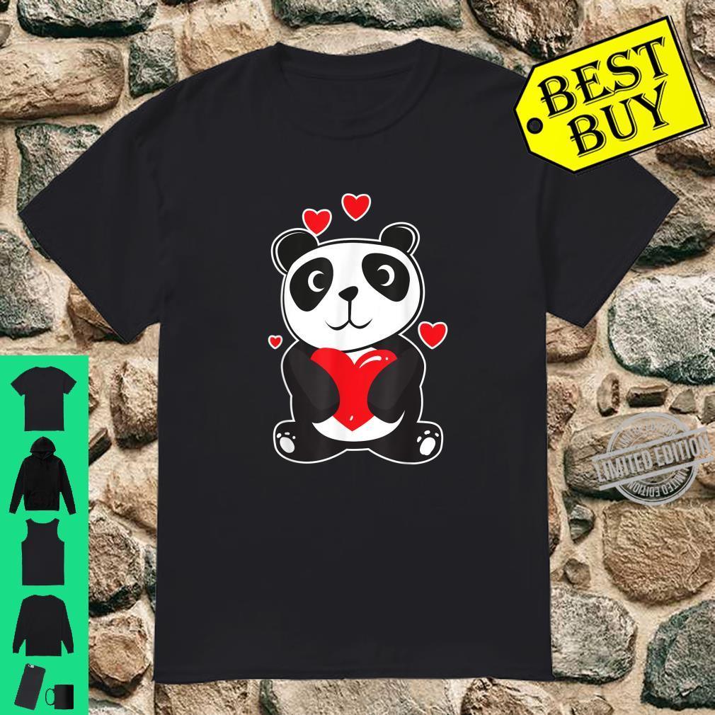 Official Panda Love Cute Hearts Panda Cuddle Design Bear Shirt