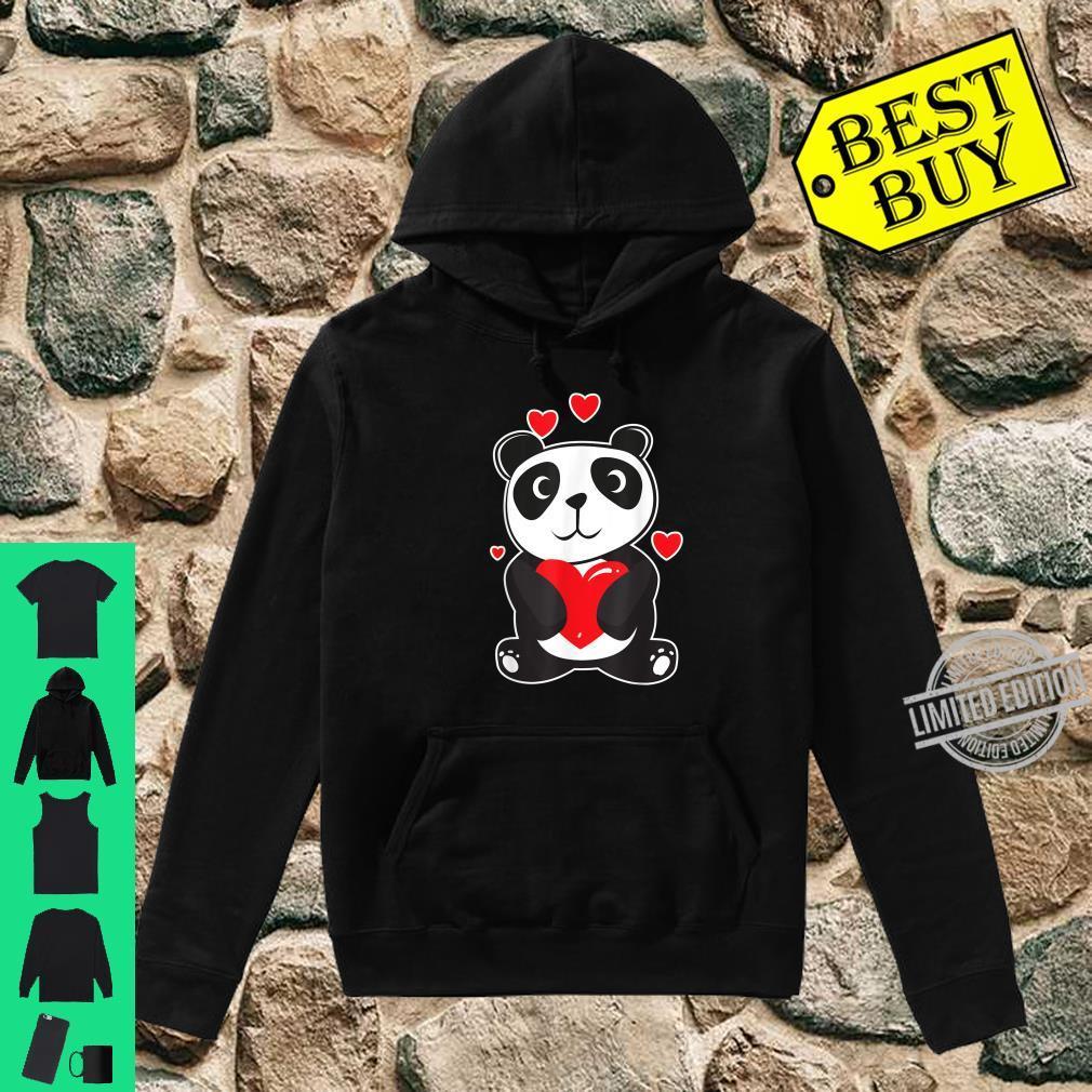 Official Panda Love Cute Hearts Panda Cuddle Design Bear Shirt hoodie