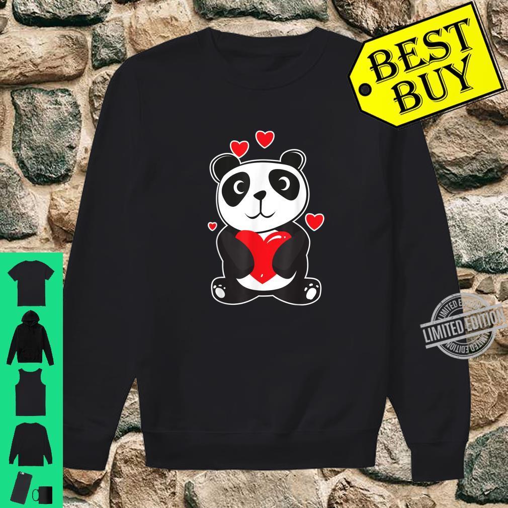 Official Panda Love Cute Hearts Panda Cuddle Design Bear Shirt sweater