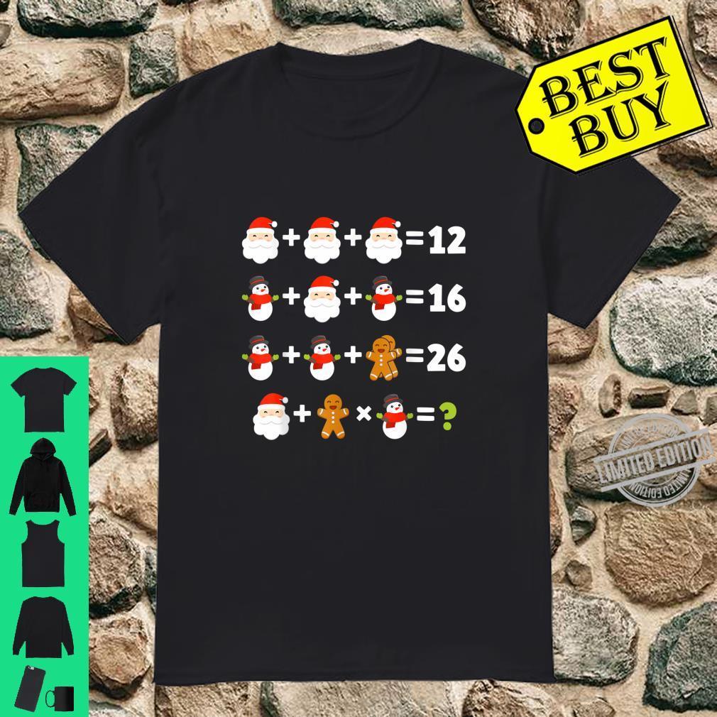 Order of Operations Santa Snowman Christmas Xmas Math Quiz Shirt