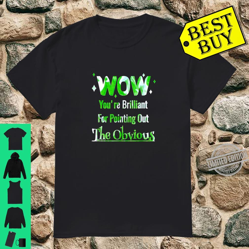 Pointing Out The Obvious Short People Overweight People Shirt