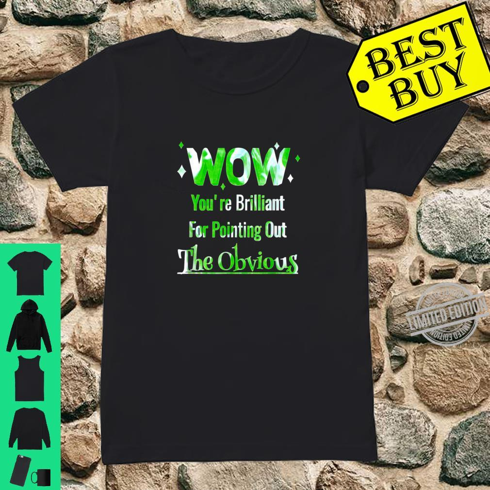 Pointing Out The Obvious Short People Overweight People Shirt ladies tee