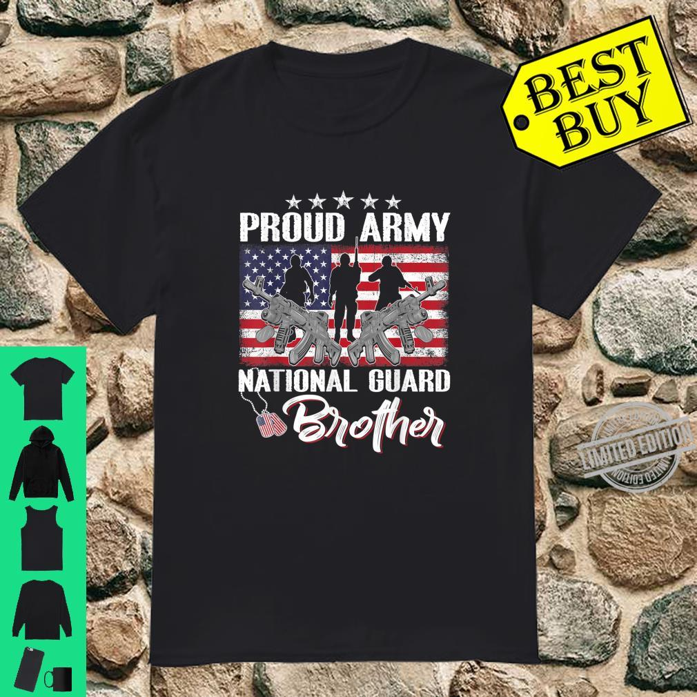 Proud Army National Guard Brother Dog Tag Military Family Shirt