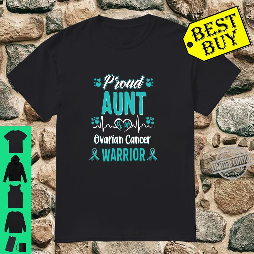 Proud Aunt ovarian cancer warrior awareness ribbon teal Shirt