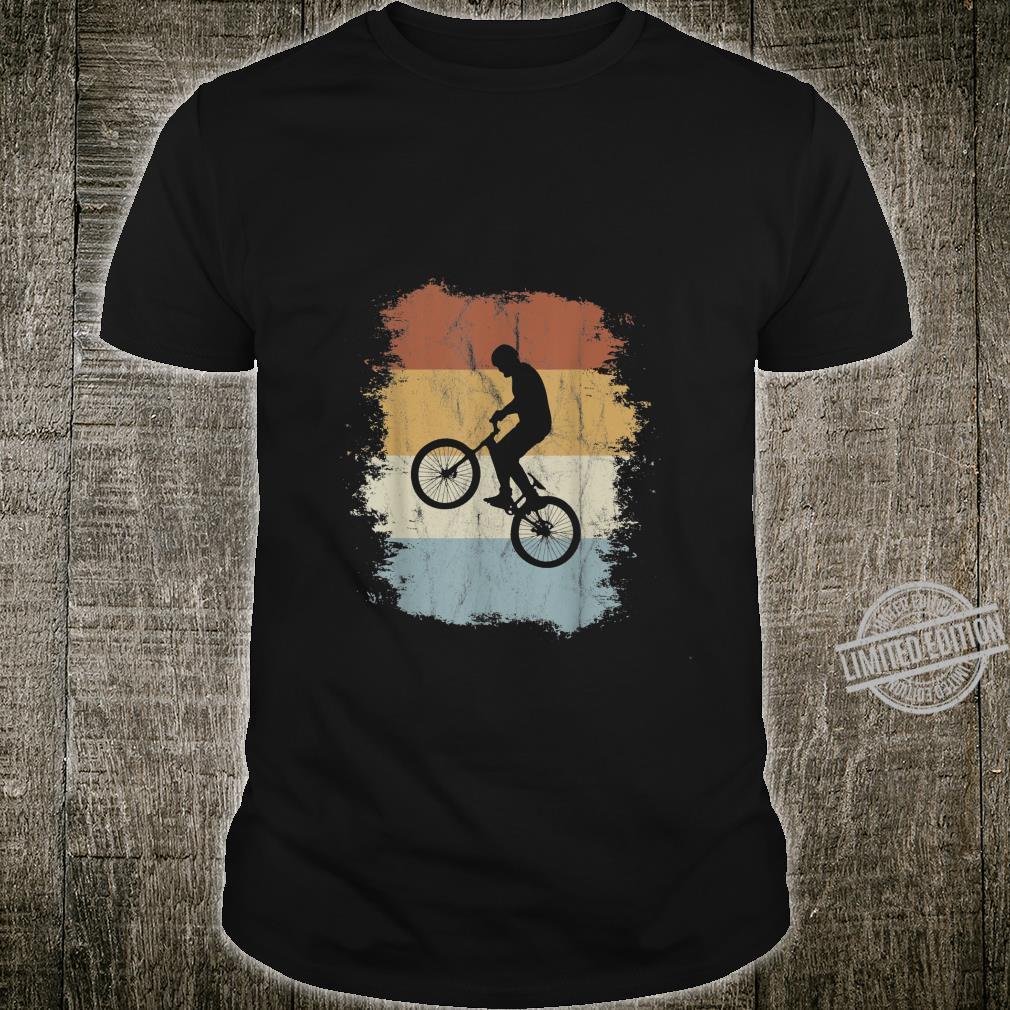 Rad Eighties Retro Bike Silhouette BMX Wheelie Shirt