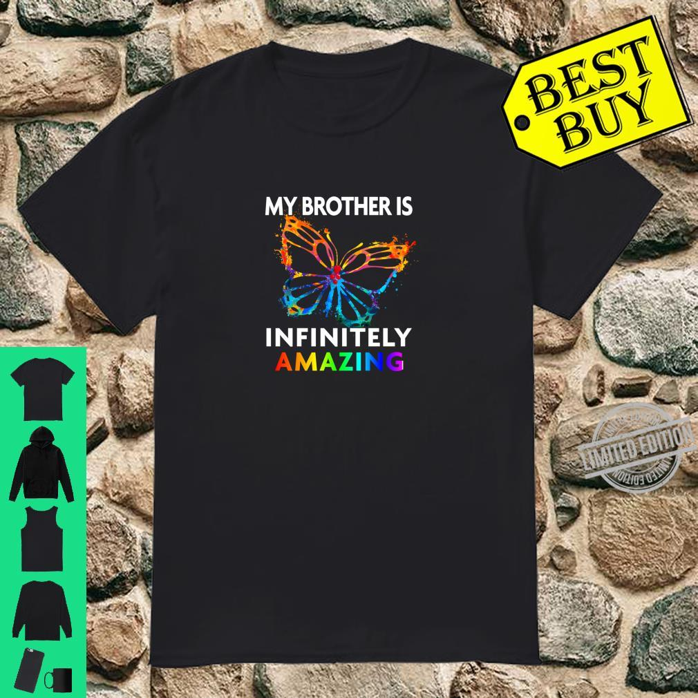 Red Instead Autism My Brother is AMAZING Butterfly Shirt
