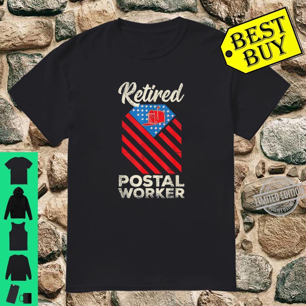 Retired Postal Worker Teammate Mailman Retirement Shirt