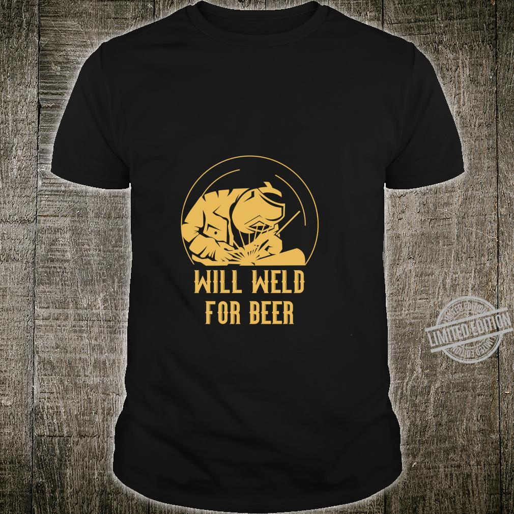 Schweißer Bier Metallarbeiter Schmied Langarmshirt Shirt