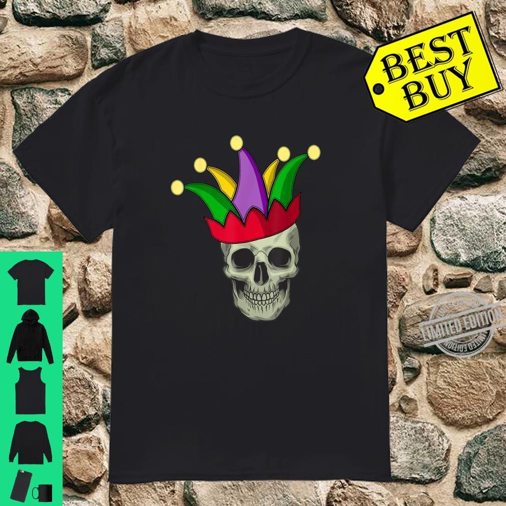 Skull Mardi Gras Jester Joker Carnival Louisiana Cajun Shirt