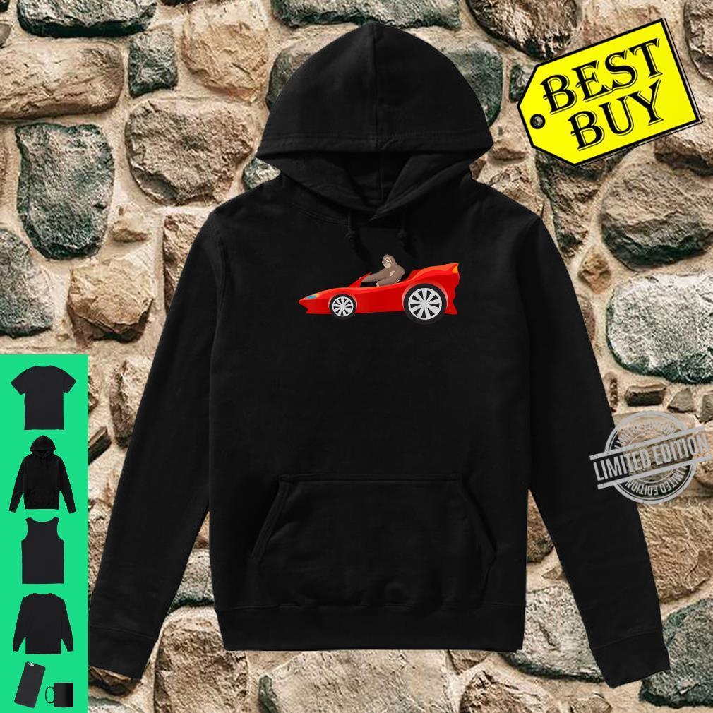 Sloth Driving Race Car Cute Lazy Animal Racer Shirt hoodie