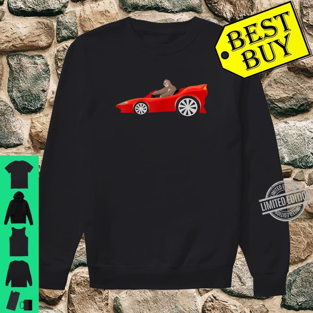 Sloth Driving Race Car Cute Lazy Animal Racer Shirt sweater