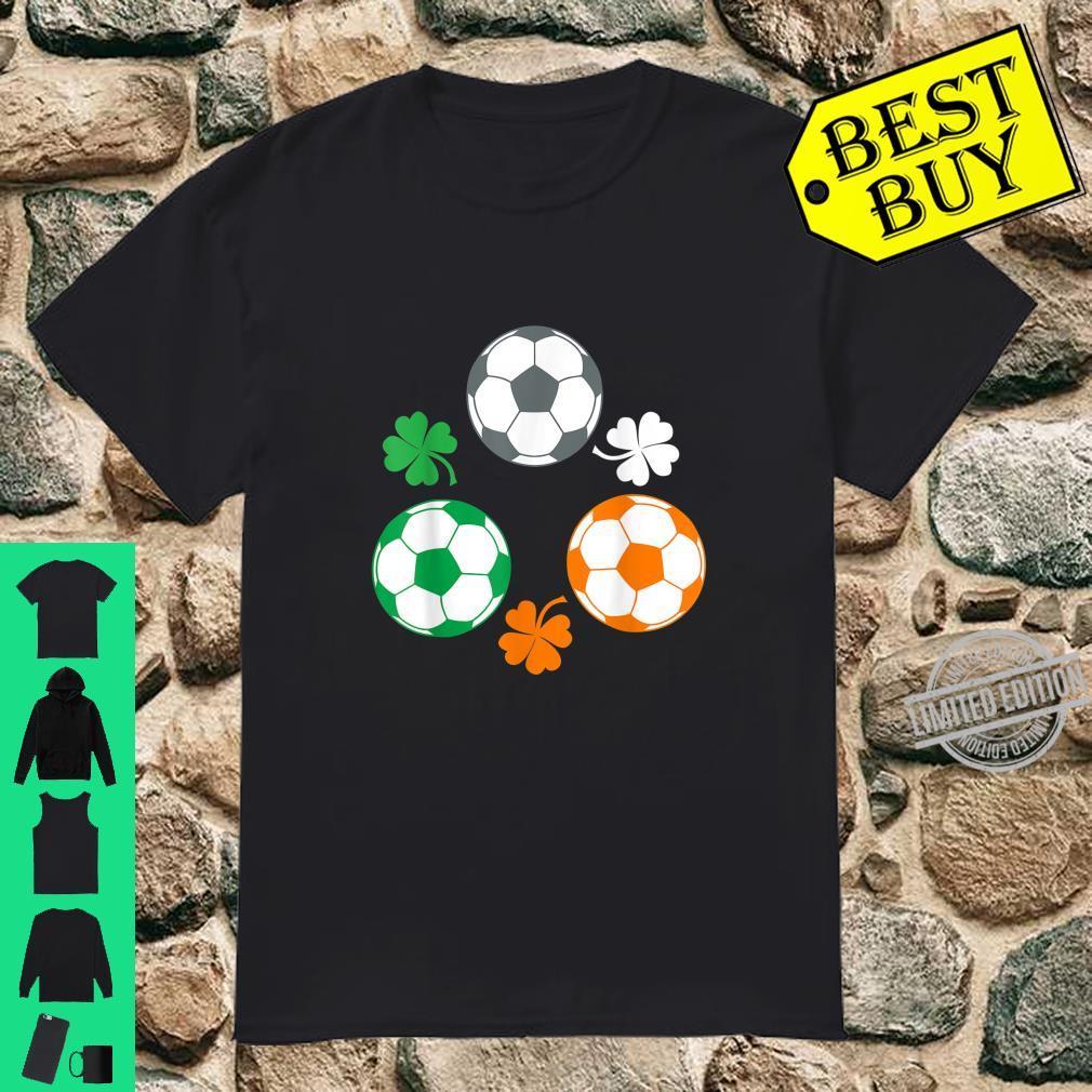Soccer Clover Irish Flag Costume St. Patricks Day Shirt