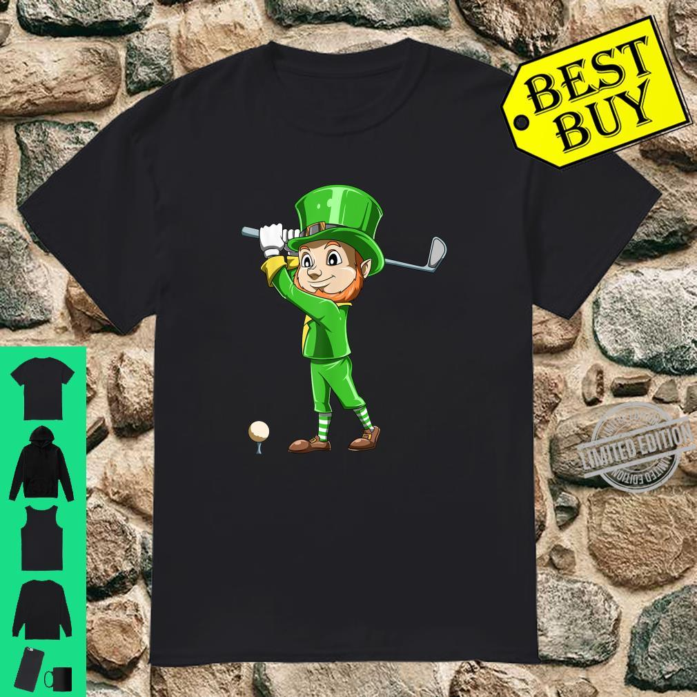 St. Patrick's Day Golf Leprechaun Playing Golf Irish Golfers Shirt
