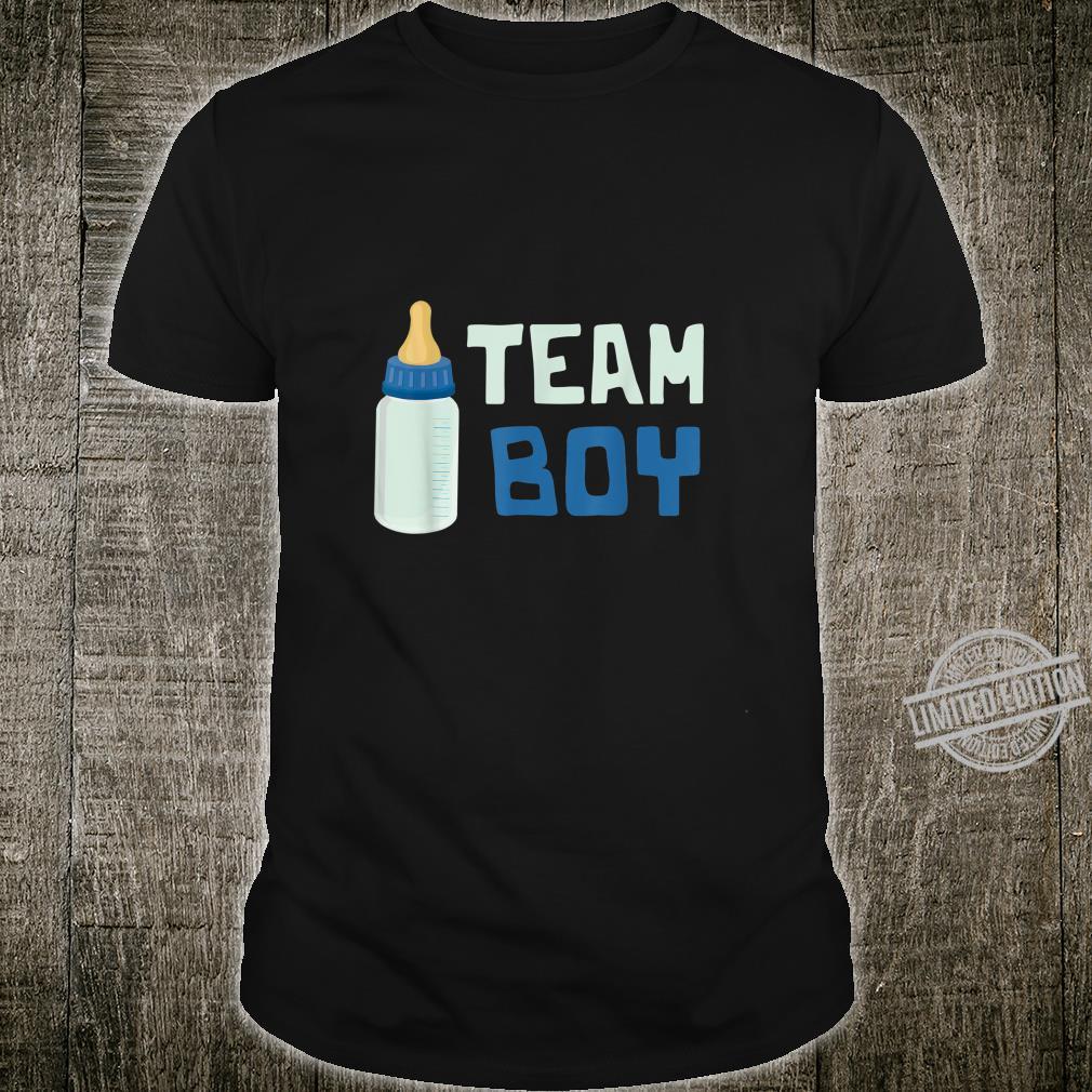 Team Boy Gender Reveal Baby Shower Family Shirt