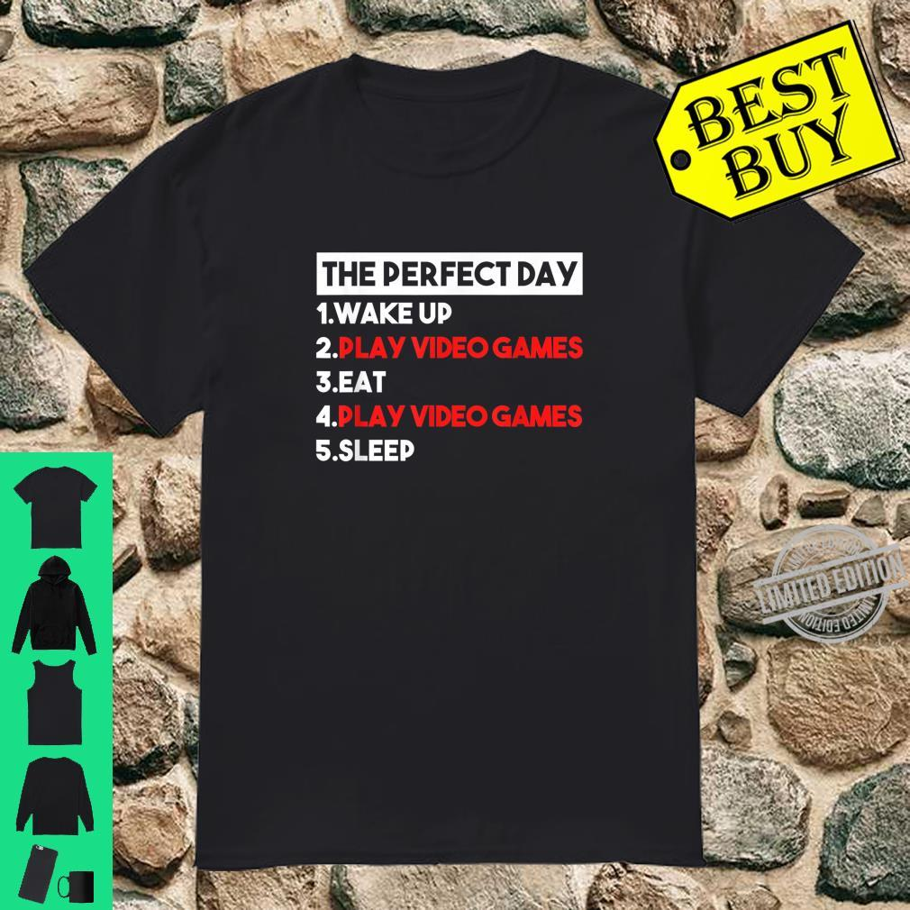 The Perfect Day Cool Gamer Video Games Shirt