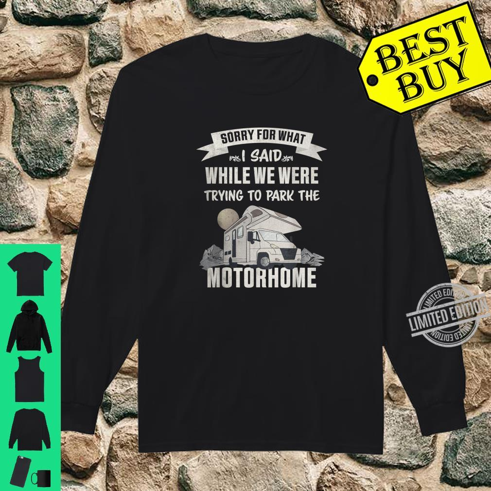 Trying to park the Motorhome RV Camper van Shirt long sleeved