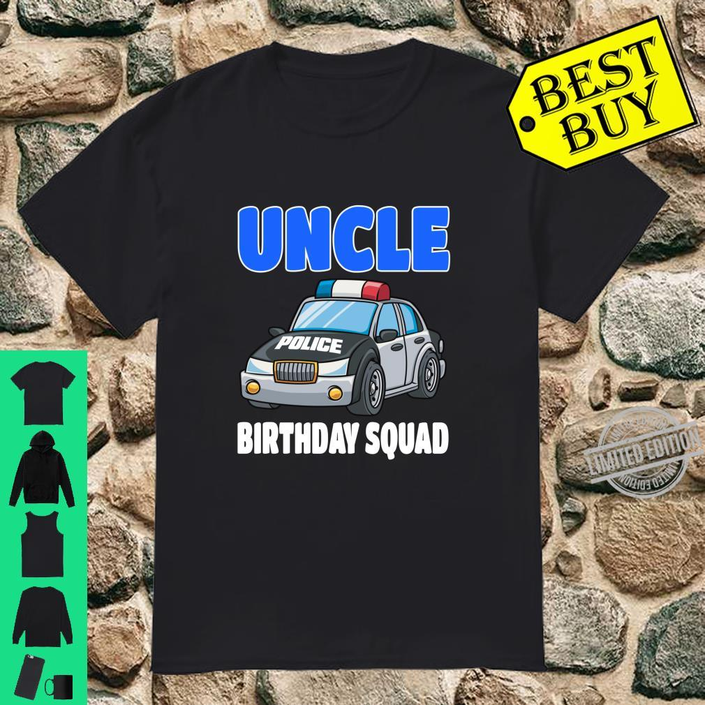 Uncle Birthday Squad Shirt Police Officer Birthday Cop Shirt