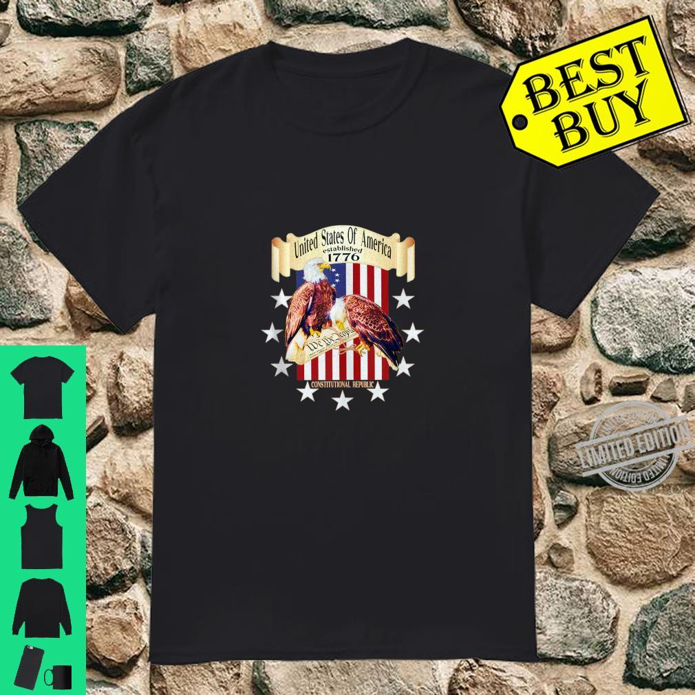 United States Of America 1776 Flag We The People Eagle Shirt
