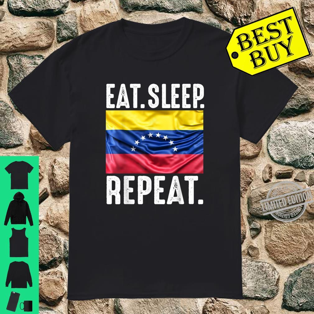 Venezuela Flag Soccer Proud Eat Sleep Repeat Football Shirt