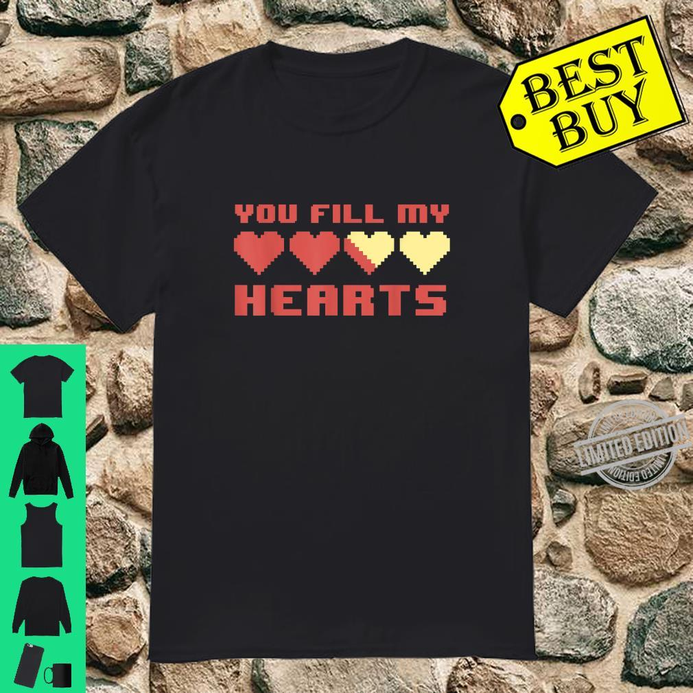 Video Gamer Fill Gaming Matching Valentines Day Shirt