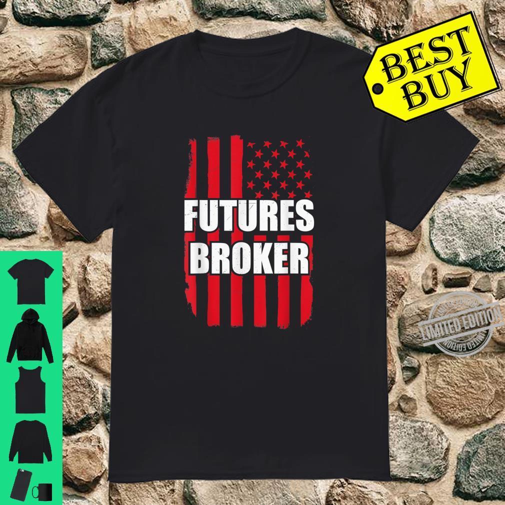 Vintage American Futures broker US Flag Futures Broker Shirt