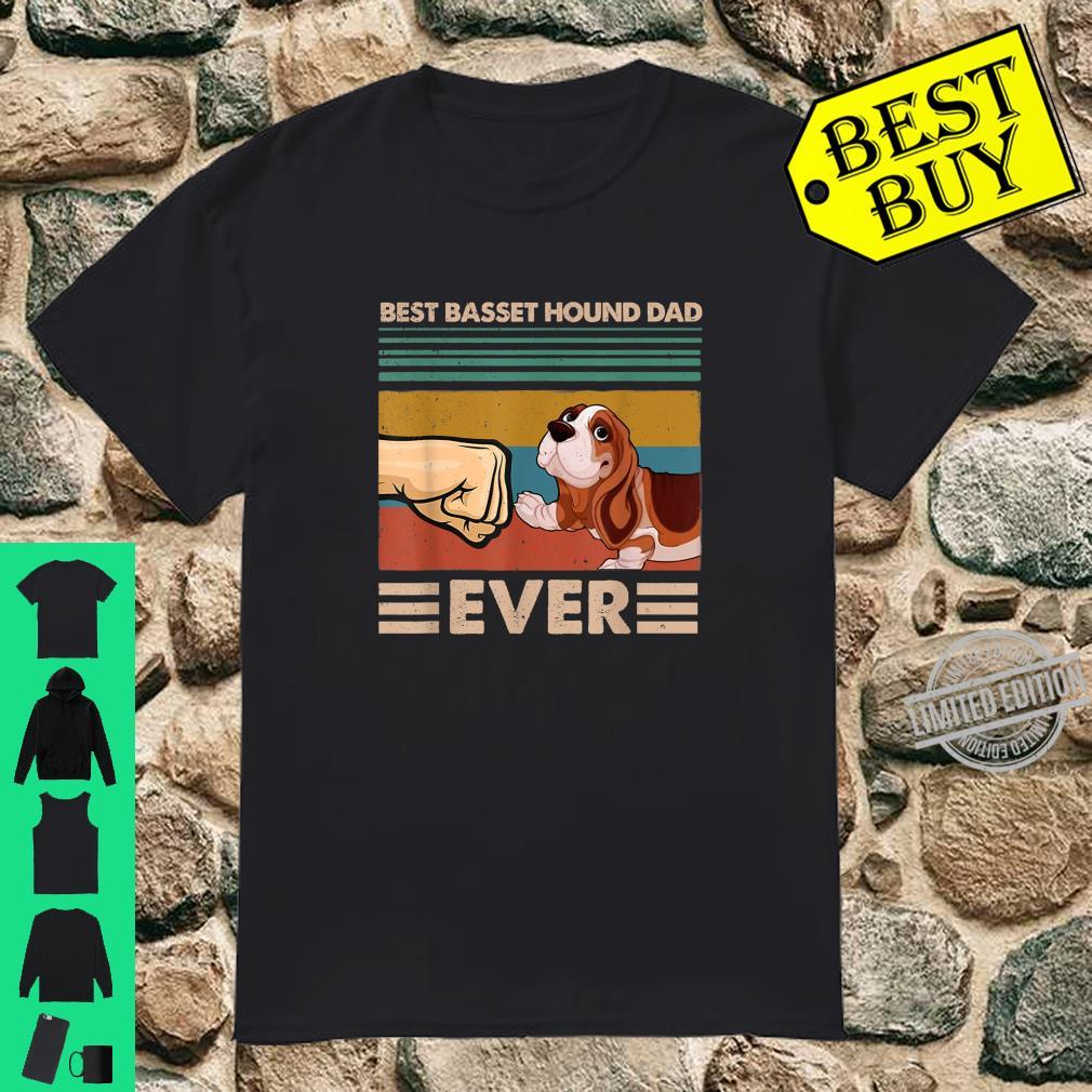 Vintage Best Basset Hound Dad Ever Daddy Father's Day Shirt