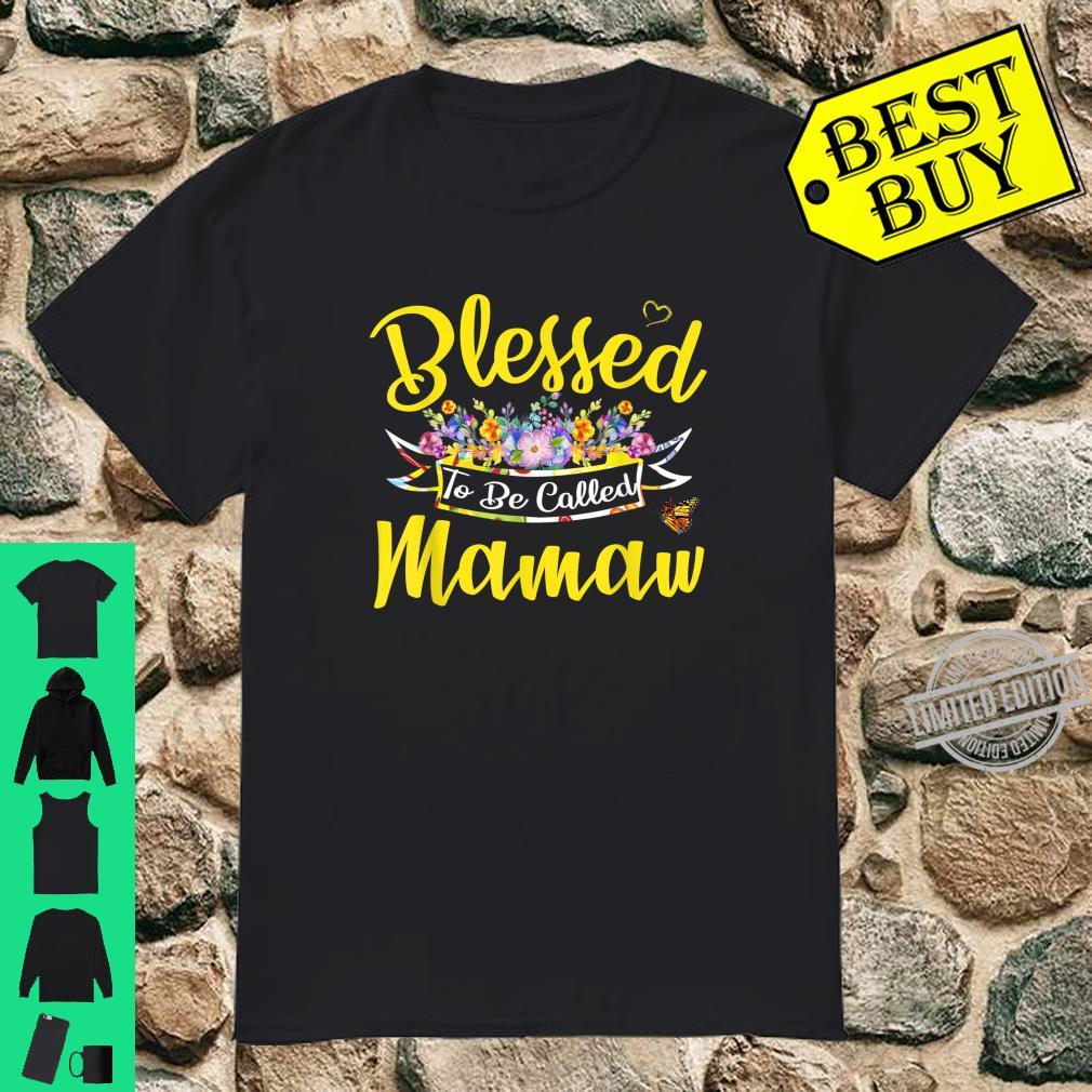 Womens Blessed To Be Called Mamaw Shirt Mothers Day Shirt