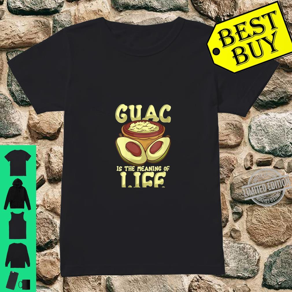 Womens Guacamole Guac Is The Meaning Of Life Avocado Food Humor Shirt ladies tee