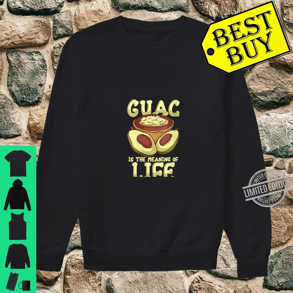 Womens Guacamole Guac Is The Meaning Of Life Avocado Food Humor Shirt sweater