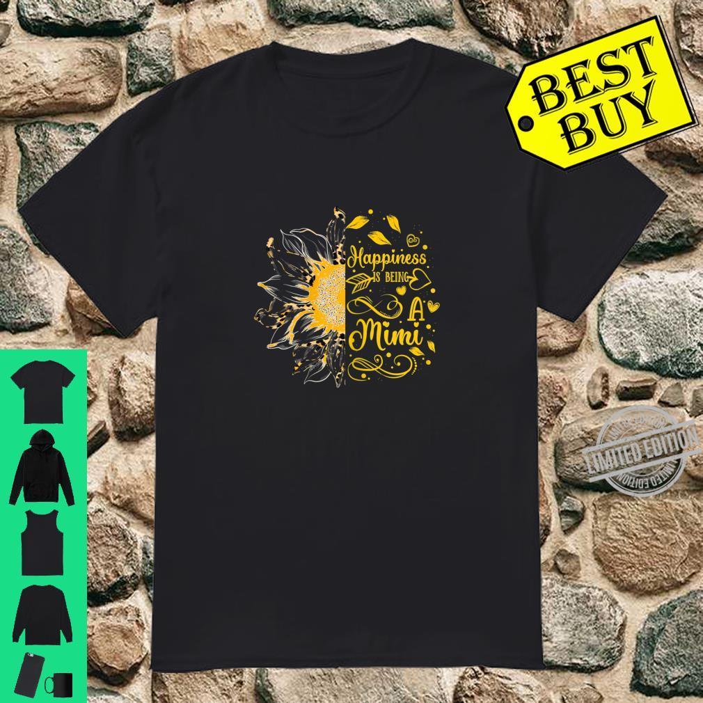 Womens Happiness Is Being A Mimi Cheetah Leopard Print Sunflower Shirt