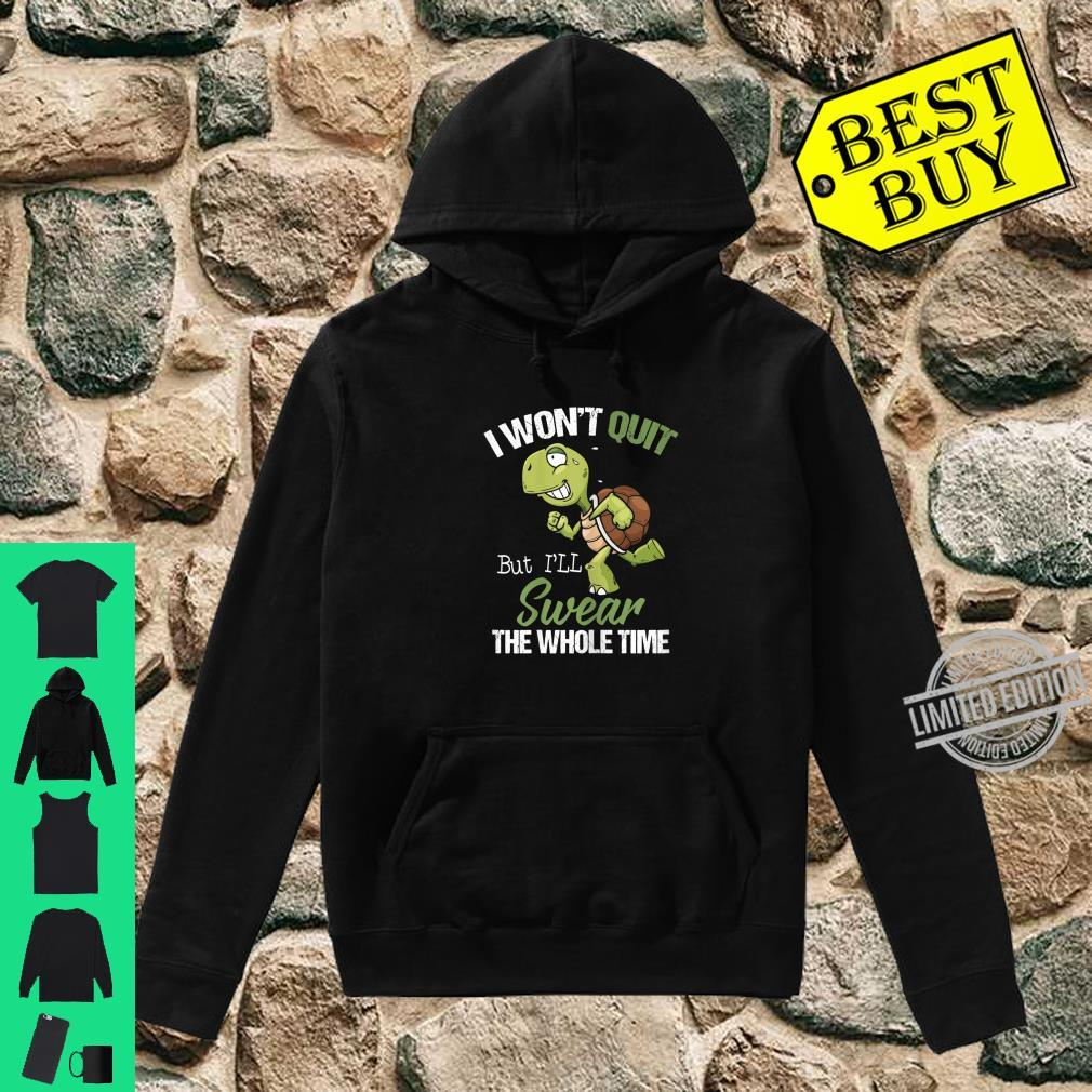 Womens I Won't Quit But I'll Swear The Whole Time, Running Shirt hoodie