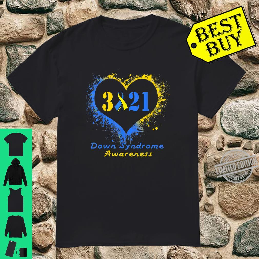 World Down Syndrome Day Awareness Heart Down Right Shirt