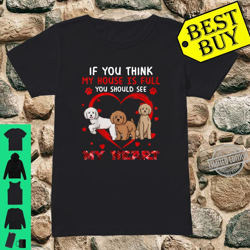 You Should See My Heart Labradoodle Dog Shirt ladies tee