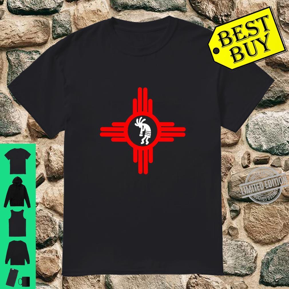 Zia Symbol New Mexico Kokopelli Dancer Legend Shirt